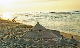 ελαφριά άμμος κάστρων sanset Στοκ φωτογραφίες με δικαίωμα ελεύθερης χρήσης
