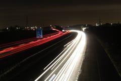Ελαφριά ίχνη αυτοκινητόδρομων στοκ φωτογραφίες