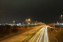 Ελαφριά ίχνη αυτοκινητόδρομων στοκ εικόνες