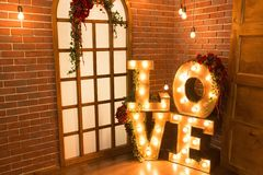 Ελαφριά αγάπη σημαδιών αγάπης Στοκ Εικόνες