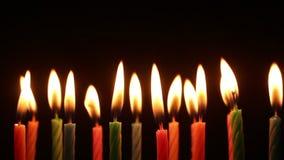 Ελαφριά γενέθλια κεριών απόθεμα βίντεο
