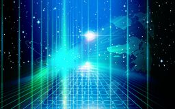 ελαφριά διαστημική τεχνο διανυσματική απεικόνιση