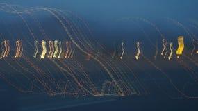 Ελαφριά ζωγραφική σε μια UEBL μεσάνυχτων packground ελεύθερη απεικόνιση δικαιώματος