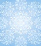 Ελαφριά κουβέρτα ροδιών από snowflakes Στοκ Εικόνα