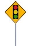 ελαφριά κυκλοφορία οδικών σημαδιών Στοκ εικόνες με δικαίωμα ελεύθερης χρήσης