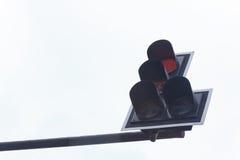Ελαφριά κυκλοφορία στο υπόβαθρο ουρανού Στοκ εικόνες με δικαίωμα ελεύθερης χρήσης