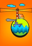 ελαφριά ναυτιλία απεικόν&i Στοκ Φωτογραφίες