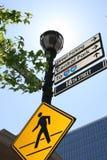 ελαφριά οδός σημαδιών Στοκ εικόνες με δικαίωμα ελεύθερης χρήσης