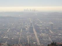 Ελαφριά ομίχλη πέρα από την πόλη του Λος Άντζελες στοκ εικόνες