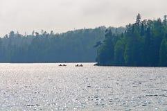 ελαφριά ομίχλη ψαράδων βραδιού wilds Στοκ εικόνα με δικαίωμα ελεύθερης χρήσης