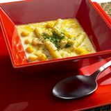 ελαφριά σούπα φασολιών Στοκ Εικόνες
