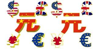 ελαφριά σύμβολα χρημάτων εμβλημάτων Στοκ εικόνα με δικαίωμα ελεύθερης χρήσης