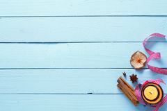 ελαφριά σύσταση κεριών ξύλ&i Στοκ Εικόνες