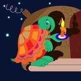 ελαφριά χελώνα νύχτας κερ& Στοκ φωτογραφίες με δικαίωμα ελεύθερης χρήσης