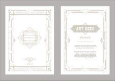 Ελαφριά χρυσά χρώματα πλαισίων του Art Deco Στοκ εικόνες με δικαίωμα ελεύθερης χρήσης