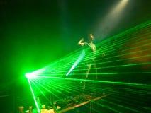 ελαφριές ακτίνες του DJ Στοκ φωτογραφίες με δικαίωμα ελεύθερης χρήσης