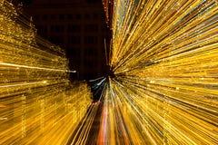 Ελαφριές ακτίνες Χριστουγέννων Στοκ Φωτογραφίες