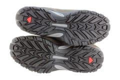 Ελαφριές μπότες πεζοπορίας ημέρας (παπούτσια) για τα άτομα Στοκ Φωτογραφίες