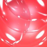 Ελαφριές ραβδώσεις στις κόκκινες φυσαλίδες Στοκ Εικόνες