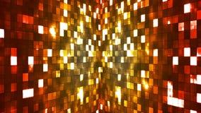 Ελαφριοί τοίχοι τετραγώνων υψηλής τεχνολογίας Firey ραδιοφωνικής μετάδοσης, πολυ χρώμα, περίληψη, Loopable, 4K απόθεμα βίντεο