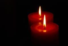 ελαφρύς θερμός κεριών Στοκ Φωτογραφίες