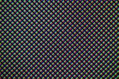 Ελαφρύς φωτομικρογράφος μιας κινητής οθόνης LCD που βλέπει μέσω ενός μικροσκοπίου Στοκ Φωτογραφία