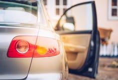 Ελαφρύ αυτοκίνητο ουρών Στοκ Φωτογραφίες