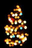 ελαφρύ δέντρο προτύπων Χρι&sigma Στοκ φωτογραφία με δικαίωμα ελεύθερης χρήσης