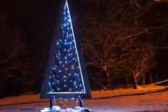 Ελαφρύ δέντρο Χριστουγέννων Στοκ Εικόνες