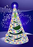 ελαφρύ δέντρο Χριστουγένν διανυσματική απεικόνιση