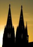 ελαφρύ ηλιοβασίλεμα DOM kolner στοκ φωτογραφίες