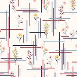 Ελαφρύ και ευγενές άνευ ραφής λεπτό λιβάδι σχεδίων πολύ είδος διανυσματική απεικόνιση