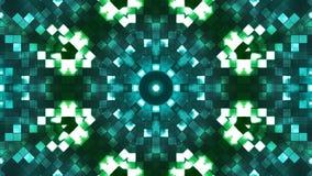 Ελαφρύ καλειδοσκόπιο τετραγώνων υψηλής τεχνολογίας Firey ραδιοφωνικής μετάδοσης, πράσινος, αφηρημένο, Loopable, 4K φιλμ μικρού μήκους
