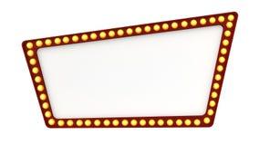 Ελαφρύ σημάδι πινάκων σκηνών αναδρομικό στο άσπρο υπόβαθρο τρισδιάστατη απόδοση ελεύθερη απεικόνιση δικαιώματος