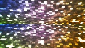 Ελαφρύ στάδιο τετραγώνων υψηλής τεχνολογίας Firey ραδιοφωνικής μετάδοσης, πολυ χρώμα, περίληψη, Loopable, 4K απόθεμα βίντεο