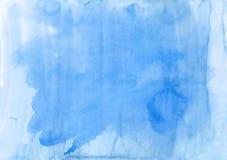 Ελαφρύ υπόβαθρο bluewatercolor σύσταση στοιχεία τέσσερα σχεδίου ανασκόπησης snowflakes λευκό Απόσπασμα Στοκ Εικόνες