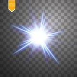 Ελαφρύ ψηφιακό αστέρι στο διαφανές υπόβαθρο Στοκ Φωτογραφία