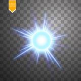 Ελαφρύ ψηφιακό αστέρι στο διαφανές υπόβαθρο Στοκ Εικόνες