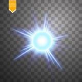 Ελαφρύ ψηφιακό αστέρι στο διαφανές υπόβαθρο Στοκ φωτογραφία με δικαίωμα ελεύθερης χρήσης