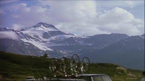 Ελβετία 1964, 8mm: Παγετώνες βουνών απόθεμα βίντεο