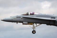Ελβετικά μαχητικά αεροσκάφη j-5009 του McDonnell Douglas F/A-18C Hornet Πολεμικής Αεροπορίας Στοκ Φωτογραφία