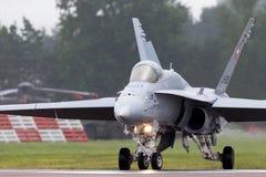 Ελβετικά μαχητικά αεροσκάφη j-5009 του McDonnell Douglas F/A-18C Hornet Πολεμικής Αεροπορίας Στοκ φωτογραφία με δικαίωμα ελεύθερης χρήσης