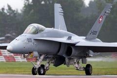 Ελβετικά μαχητικά αεροσκάφη j-5009 του McDonnell Douglas F/A-18C Hornet Πολεμικής Αεροπορίας Στοκ εικόνα με δικαίωμα ελεύθερης χρήσης