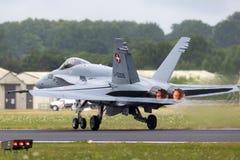 Ελβετικά μαχητικά αεροσκάφη j-5009 του McDonnell Douglas F/A-18C Hornet Πολεμικής Αεροπορίας Στοκ εικόνες με δικαίωμα ελεύθερης χρήσης