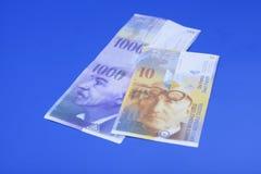 Ελβετικά φράγκα, νόμισμα της Ελβετίας Στοκ Εικόνα