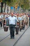 Ελβετική παρέλαση εθνικής μέρας στη Ζυρίχη Στοκ Φωτογραφίες