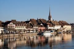 ελβετική πόλη του Ρήνου stein Στοκ Εικόνες