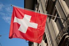Ελβετική σημαία στοκ εικόνα με δικαίωμα ελεύθερης χρήσης