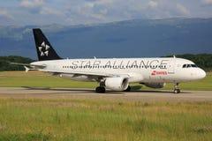 Ελβετικό αεροπλάνο στοκ εικόνες με δικαίωμα ελεύθερης χρήσης