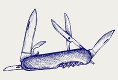Ελβετικό μαχαίρι στρατού Στοκ Φωτογραφίες
